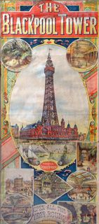 Victorian poster for Blackpool Tower Blackpool Lights, Blackpool Beach, Posters Uk, Railway Posters, Poster Prints, Blackpool England, Holiday Posters, British Seaside, Poster Boys