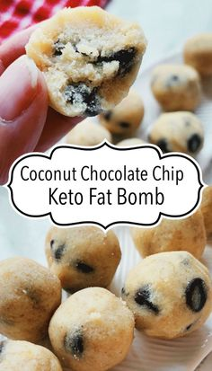 Coconut Chocolate Chip Keto Fat Bomb part of a ketogenic diet. Kinda tastes like Mounds chocolate bar! Coconut Chocolate Chip Keto Fat Bomb part of a ketogenic diet. Kinda tastes like Mounds chocolate bar! Keto Friendly Desserts, Low Carb Desserts, Keto Chocolate Fat Bomb, Coconut Chocolate, Chocolate Recipes, Chocolate Cheesecake, Blueberry Cheesecake, Keto Cheesecake, Chocolate Fudge