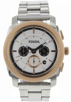 Price:$100.38 #watches Fossil FS4714, Stainless steel case, Stainless steel bracelet, White dial, Quartz movement, Scratch-resistant mineral, Water resistant up to 5 ATM- 50 Meters - 165 Feet