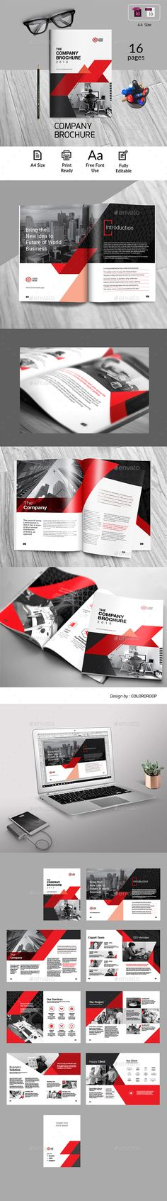 Comapny Brochure by colordroop Letter HeadBusiness Brochure Template. This layout is suitable for any project purpose. Very easy to use and customise.Features:A4