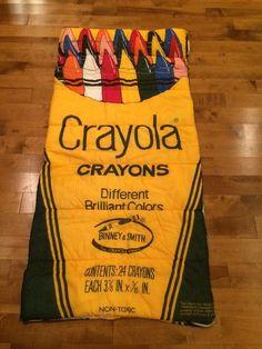 Crayola Crayons Kids Sleeping bag - vintage 1980's