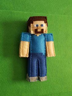 Minecraft Steve  Check out this item in my Etsy shop https://www.etsy.com/listing/502259461/minecraft-steve-6-handmade-felt-plush