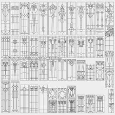 """Collection of vertical floral stained glass patterns. FREE """"PERSONAL USE"""" DWG, SVG, EPS FILES."""
