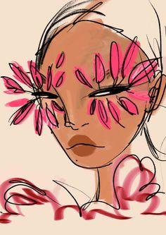 Arte Sketchbook, Funky Art, Hippie Art, Art Drawings Sketches, Indie Drawings, Psychedelic Art, Collage Art, Painting & Drawing, Pink Drawing