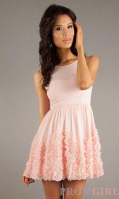 High Neck Teen Cocktail Dresses, Short Graduation Dress- PromGirl
