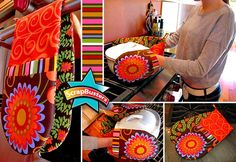 Two handed oven mitt -- I LOVE this idea and the fact that you can make them out of scraps.