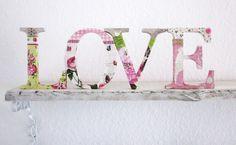 Deko-Buchstaben LOVE aus Holz von dünenmädchen auf DaWanda.com