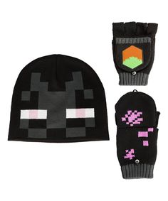 a9f6f6ca7be Take a look at this Minecraft Black Enderman Beanie   Mittens - Adult today!