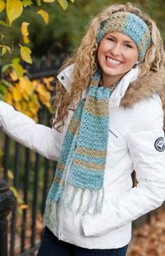 Yarnspirations is the spot to find countless free easy crochet patterns, including the Red Heart Warm & Shine Scarf & Headband. Browse our large free collection of patterns & get crafting today! Cute Crochet, Knit Crochet, Crochet Hats, Headband Crochet, Crochet Scarves, Headband Scarf, Irish Crochet, Crochet Things, Knitting Patterns