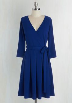 Movers and Chic-ers Dress. Youre workin it like a pro as you smoothly navigate your action-packed schedule in this cobalt-blue dress. #blue #modcloth