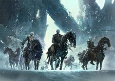 Others, like Turkish artist Ertaç Altınöz, create imaginary scenes. Here is a group of White Walkers looking menacing (note the ice spiders in the background).