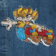 Vintage Skateboarding Jean Jacket Embroidered Faded Glory Denim Boy's Size 9 Love Jeans, Denim Jeans, Faded Glory, Jean Skirt, Vintage Colors, Jean Jackets, Skateboarding, Vintage Accessories, Youth