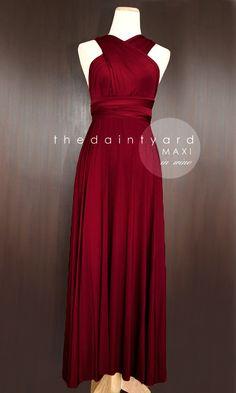 TDY Wine Red Maxi Bridesmaid Dress Prom Wedding Dress Infinity Dress  Convertible Dress Multiway Dress Cocktail Dress Long Ball Gown c52f16b979f0