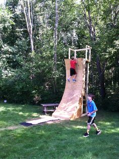 American Ninja Warrior Warped Wall - it's done!