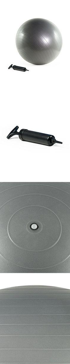Burst Resistant Yoga/Exercise Ball with Pump, Silver, 55 cm diameter