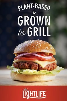 It's love at first bite. Surprise yourself with the new mouth-watering Lightlife Plant-Based Burger. Find us in the meat aisle. Keto Diet Guide, Ketogenic Diet Plan, Atkins Diet, Fruit Et Passion, Grolet, Plant Based Burgers, Cooking Appliances, Cooking Utensils, Cooking Dishes