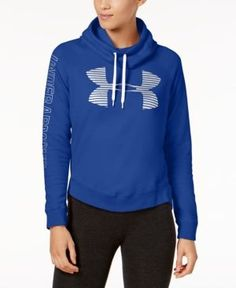 2f93604e918 Under Armour Favorite Fleece Metallic Logo Hoodie Women - Tops - Macy s