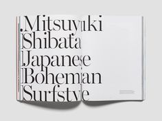 saturdays magazine • fonts in use