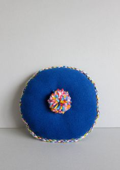 Mini Round Handmade Cushion by finfin London. Weekend Projects, Diy Projects, Diy Cushion, Handmade Cushions, Plaid, Craft Work, Fabric Crafts, Kids Room, Adairs Kids