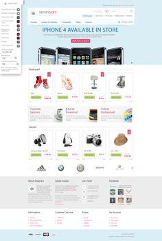 ShopCart - Premium OpenCart theme with powerful options by Thomas , via Behance