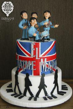 Beatles Cake pastel beatles liverpool fab four british uk ringo john paul george
