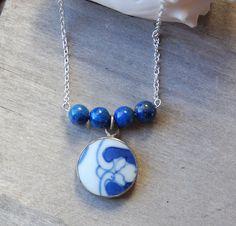 Lapis Necklace   Royal Blue Ceramic Lapis by LaughingDogStudio, $32.00