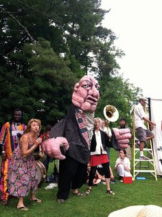 """Redwing Blackbird Puppet Theater performs Bread and Puppet's """"Hallelujah"""" at Rosendale Earthfest on June 9 at the Rosendale Recreation Center in Rosendale, NY. (photo - JENNIFER METZGER)"""
