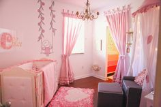 Pink and Gold Paris Themed Nursery - whimsical and sweet!