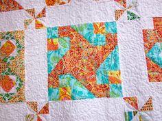 Orange and Green Quilt by Julie Antinucci, via Flickr