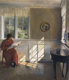 A Sunlit Interior. Peter Vilhelm Ilsted (Danish, 1861-1933).