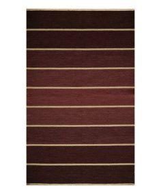Another great find on #zulily! Lavender Stripe Wool Rug #zulilyfinds