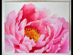 Watercolor painting - Peony - YouTube