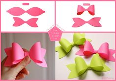easy paper bow with template