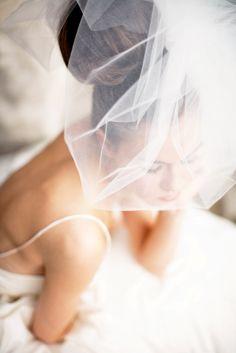 Wedding Veil -- Classy Bubble Veil. $149.00, via Etsy.