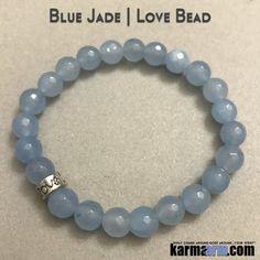 Beaded Yoga Bracelets Blue Jade Love. I Law of Attraction | #LOA | Charm Mala I Meditation & Mantra I Spiritual.