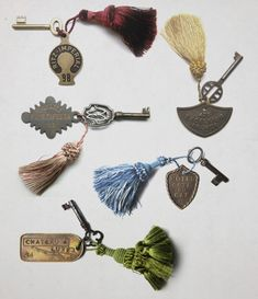 Hotel Keys. Props from the Grand Budapest Hotel (2014), dir. by Wes Anderson.