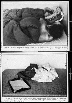 Sophie Calle- Les dormeurs, 1979 image via www.elsilencio.com. Descripció gairebé científica del que veu.