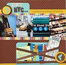 new york scrapbook layouts - Google Search
