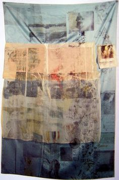 Robert Rauschenberg, Blue Urchin from Hoarfrost series 1974 - In them he used a variety of transparent, translucent and opaque fabrics ranging from cotton cheesecloth to satin and silk on which he printed text and images from newspapers and magazines. Robert Rauschenberg, Joan Mitchell, Mark Rothko, Nam June Paik, Pop Art Movement, Still Life Photography, Wedding Photography, Portrait Photography, Art Graphique