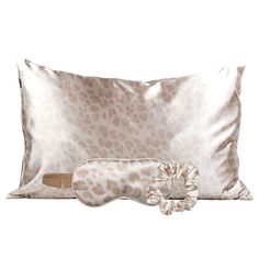 Kitsch Satin Sleep Set - Includes 1 Satin Pillowcase, 1 Satin Eye Mask, and 1 Satin Volume Scrunchie (Leopard) Sleep Set, Good Sleep, Kitsch, Best Sleep Mask, Sleep Rituals, Satin Pillowcase, Gifts For Your Mom, Cute Necklace, Bed Head