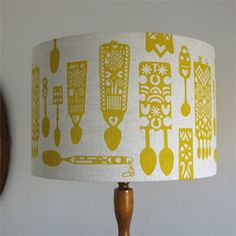 Welsh lovespoon lampshade, assorted colours and sizes. Starting from £55