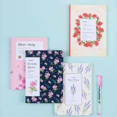 Variations : Peony, Hibiscus, Poppy Flower, Lavender. Type : Any year diary (Undated diary, Blanked date, Date is not printed, You can fill the date.). Component : Yearly Plan/Check List 2P, Monthly Plan 16P (13 Months), Weekly Plan 130P, Free Note 28P, Personal Data 1P / Total 192 Pages. | eBay!