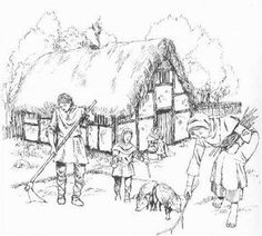 A family of peasants tilling a field in the Middle Ages Medieval Houses, Medieval Life, Medieval Fantasy, Medieval Peasant, Birmingham Museum, High Middle Ages, Epic Story, European History, Prehistory
