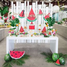 Watermelon party!