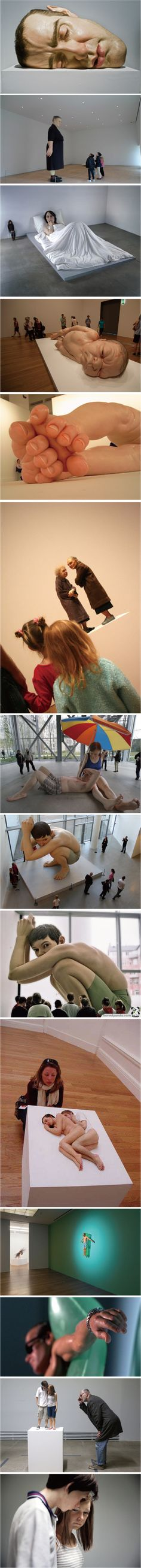 I Like Art / Ron Mueck --- creepy Contemporary Sculpture, Contemporary Art, Performance Artistique, Illusion Kunst, Fondation Cartier, The Farm, Instalation Art, Creation Art, Colossal Art