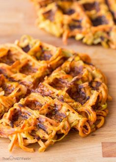 From enchiladas to carbonara, you'll love these creative, healthy sweet potato. From enchiladas to carbonara, you'll love these creative, healthy sweet potato recipes for weight loss that feature the warm-hued spud! Pastas Recipes, Spiralizer Recipes, Beef Recipes, Cooking Recipes, Parmesan Recipes, Vegetable Spiralizer, Jackfruit Recipes, Vegetable Noodles, Soup Recipes