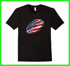 Mens 4th July USA Football T-Shirt 2XL Black - Holiday and seasonal shirts (*Amazon Partner-Link)