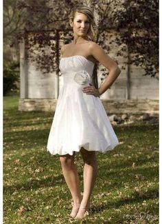 Strapless Taffeta Handmade Flower Trimed Ruched Wedding Dress For Sale