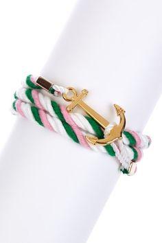 Nautical: Anchor Wrap Rope Bracelet by t+j Designs on @HauteLook
