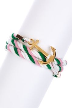 Nautical: Anchor Wrap Rope Bracelet by t+j Designs on @HauteLook
